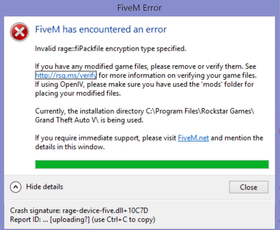 Crash signature: rage-device-five dll+ 10C7D - Technical