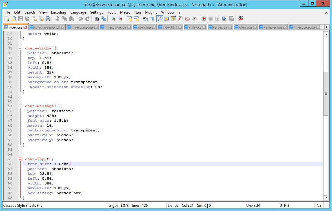 Chat Fivem Script