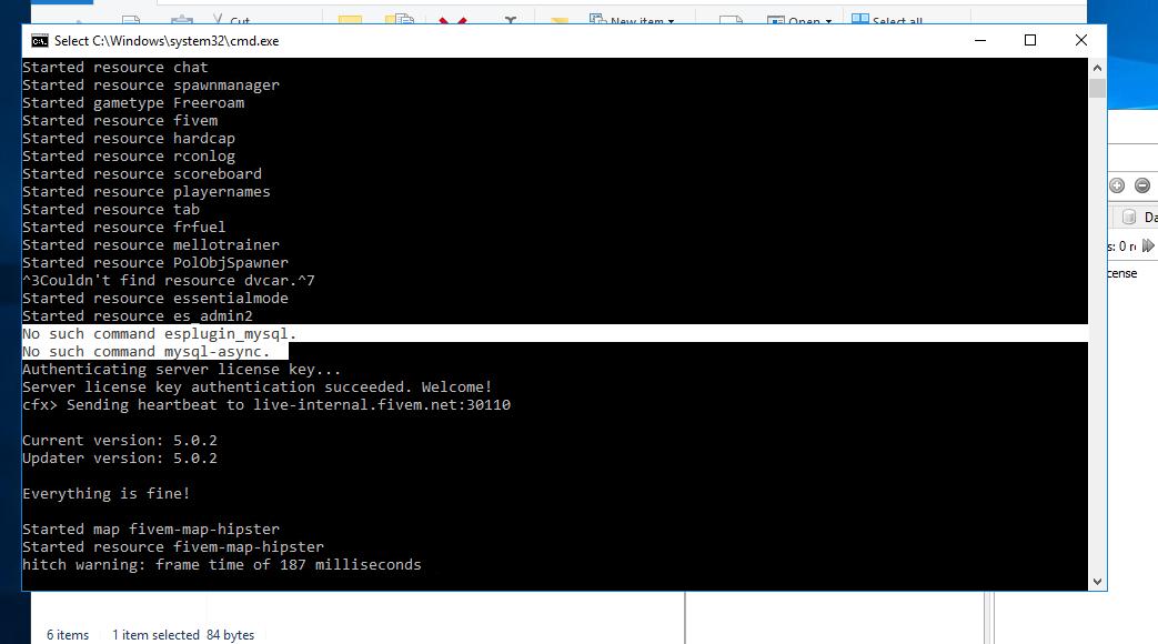No such command esplugin_mysql/mysql-async - Discussion - FiveM