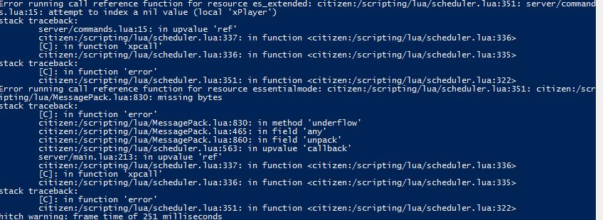Lua script error after doing /setjob! - Technical Support