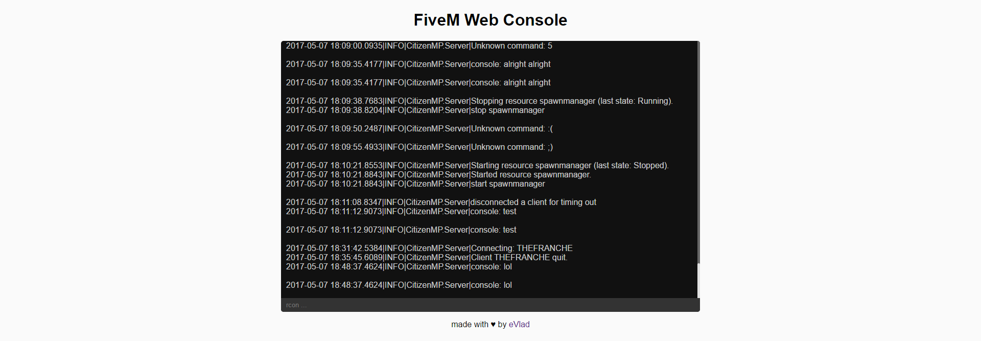 Fivem Admin Commands