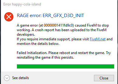 Error ERR_GFX_D3D_INIT FIX! - Technical Support - FiveM