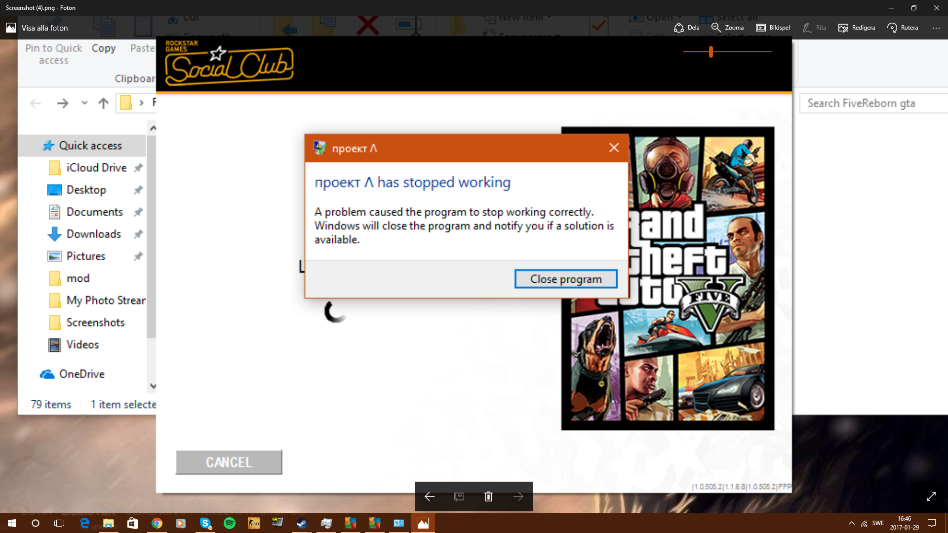 My Game Crashes After Starting the gta launcher - Technical Support