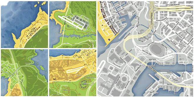 Release] DLK GTAV Pause Menu HD Map Mods - w/Street names