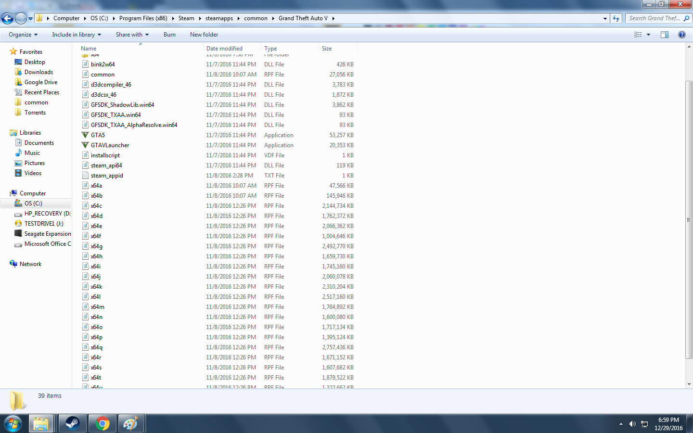 original gta v files