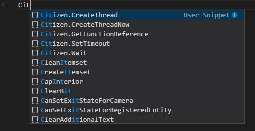 FiveM Snippets VS Code