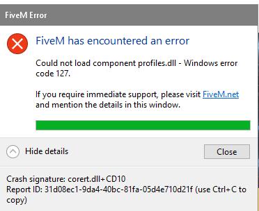 fivem error