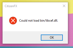 FiveM exe - Entry Point Not Found