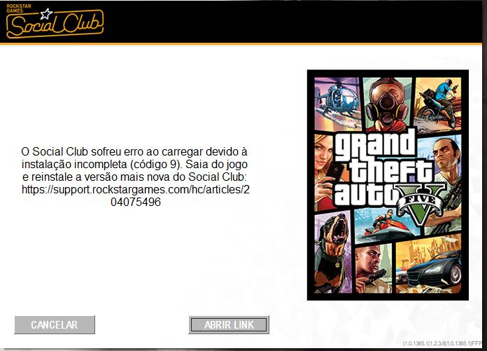 FiveM doesn't start, Rockstar social club CODE 9 error - Technical