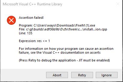 Visual C++ Runtime errors (line 101/135) - Assertion failed