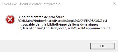 Windows ERROR code 127 FiveM - Technical Support - FiveM