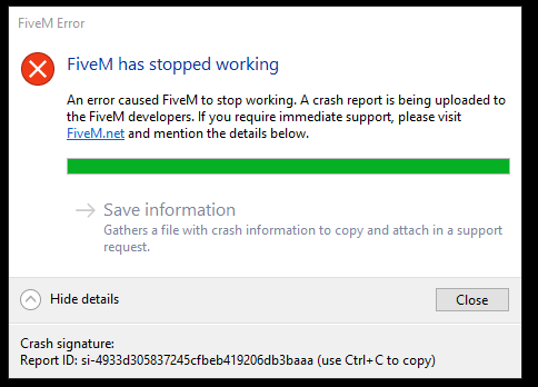 OneSync Crash - Technical Support - FiveM