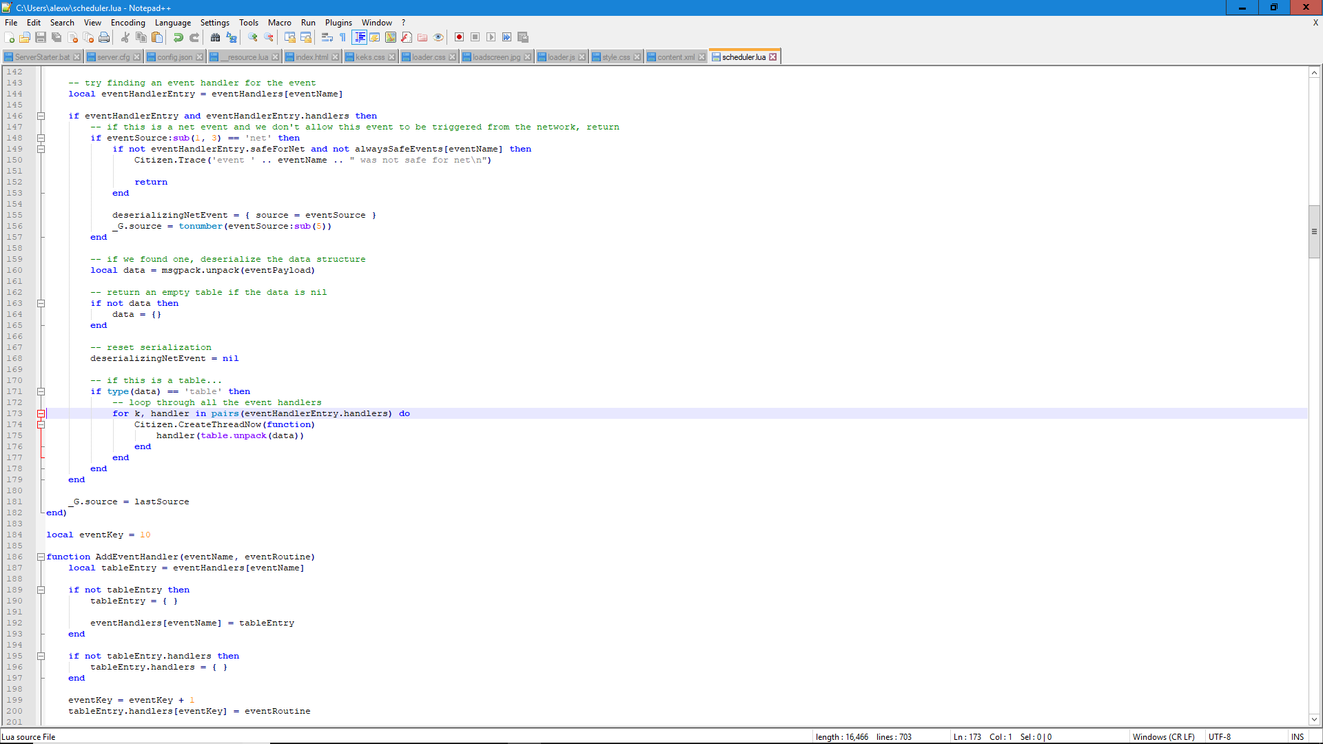 Lua Script Error - Server Discussion - FiveM