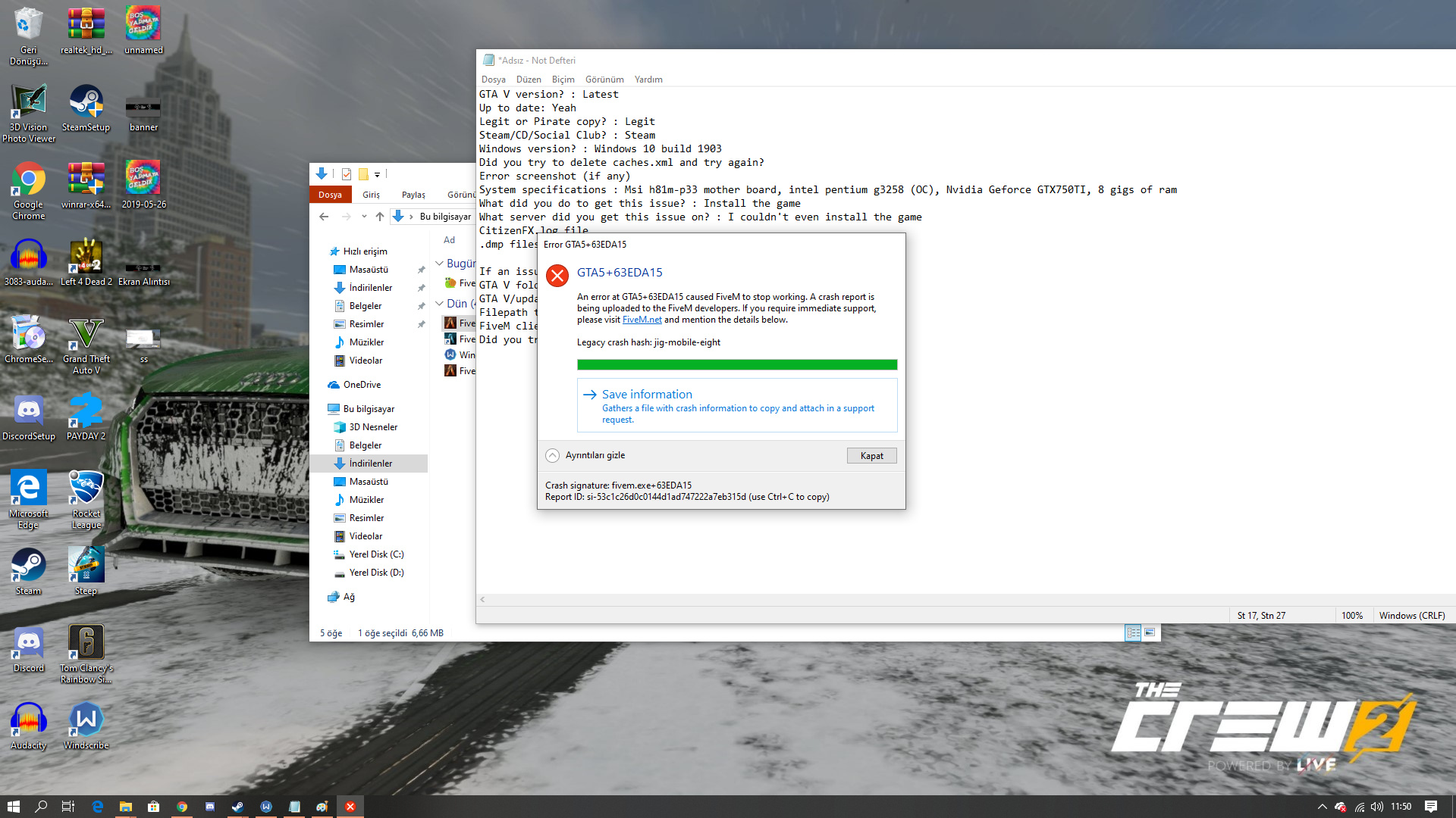 GTA 5 + 63EDA15 (microsoft visual) error - Technical Support - FiveM