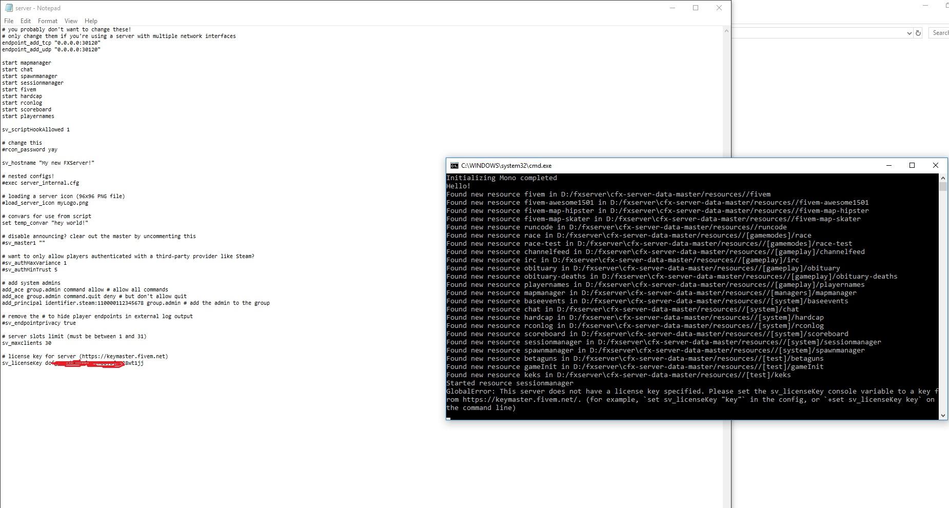 Error when running FXserver - Technical Support - FiveM