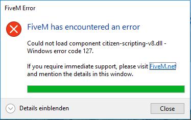FiveM first time installation problem  Citizen scripting v8