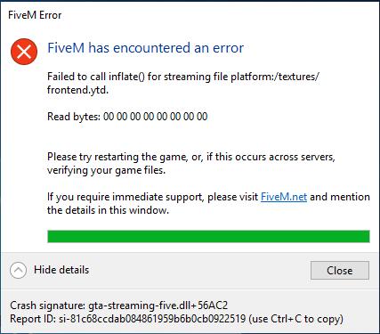 FIveM crashed on start - Technical Support - FiveM