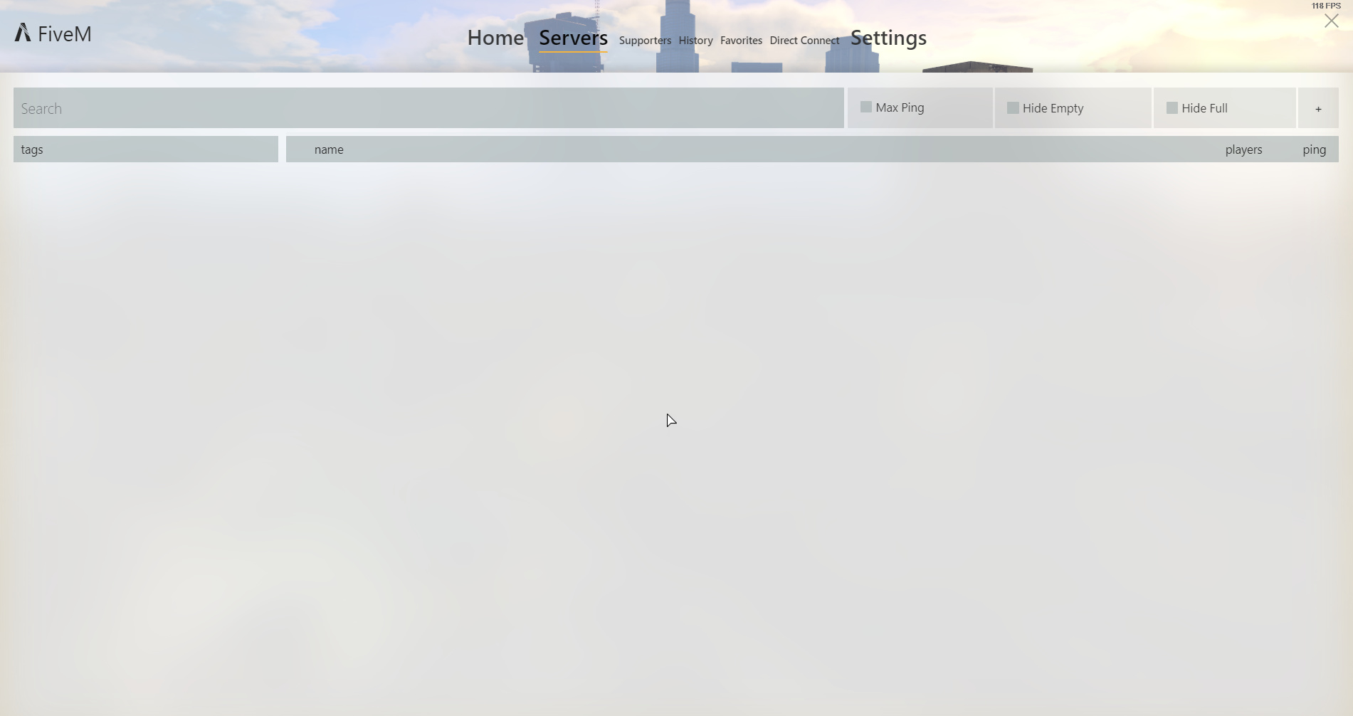 FiveM server list disappeared, also the tags - Technical Support - FiveM