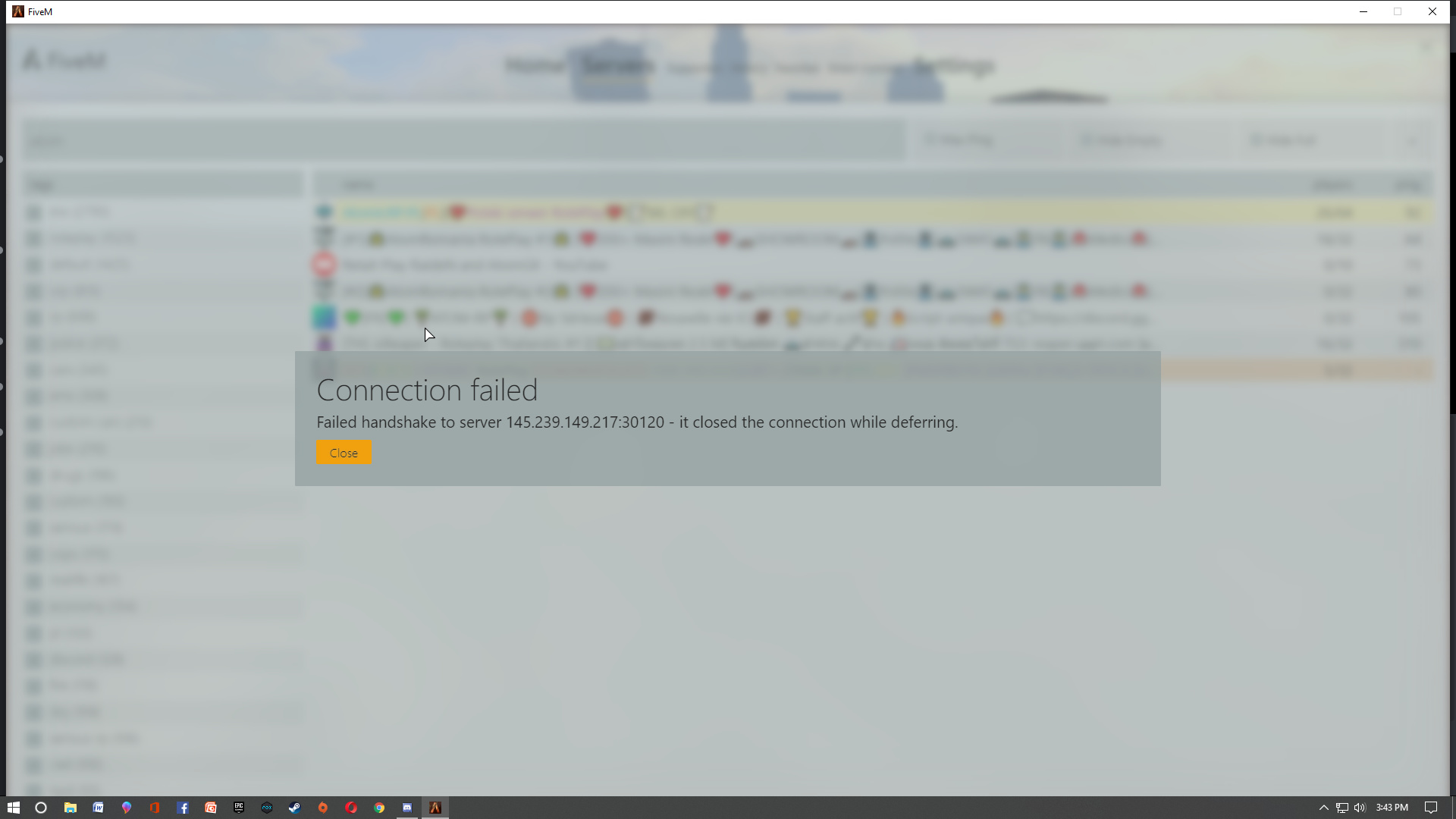 Failed to connect server (handshaking,that is tell me) - Technical