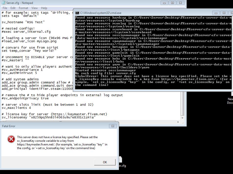 Server Key not working - Technical Support - FiveM