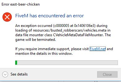 Fivem Runtime Error