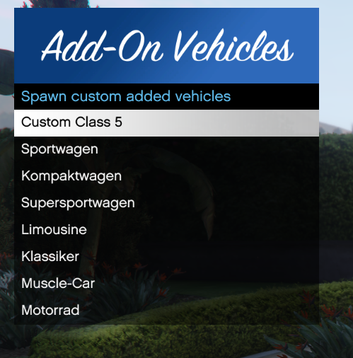 Release] Add-On Vehicle Spawn Menu - Releases - FiveM