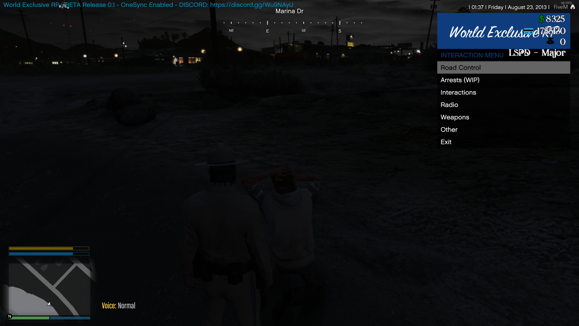 World Exclusive RP -> Where FiveM meets LSPDFR   Normal & OneSync