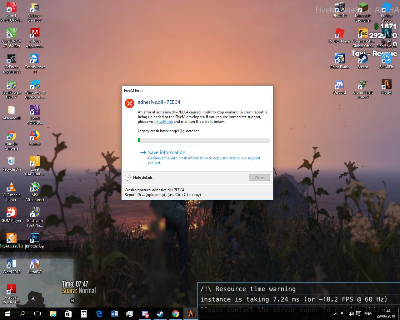 FiveM has encountered an error OpenIV - Technical Support