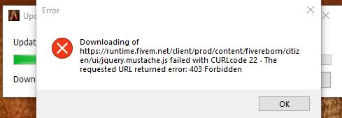 Error Downloading : https://runtime fivem net/client/prod/content