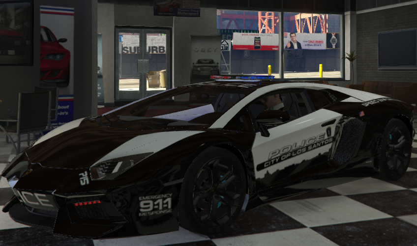 LSPD Hot Pursuit 718 Cayman, F430 and Aventador Captain14 Style Pack