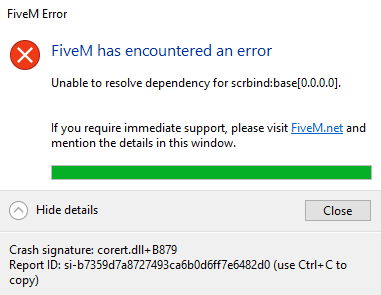Download corert dll+B879 Failed - Technical Support - FiveM