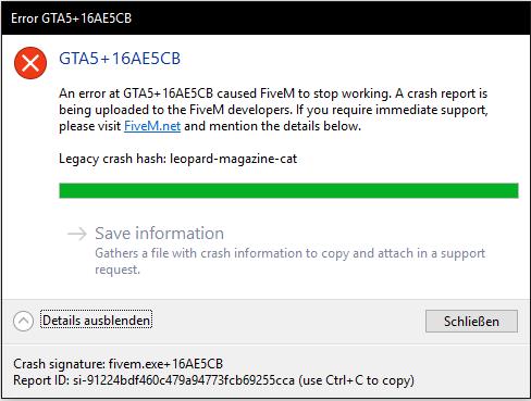Server Join error  GTA5+12AE5CB - Technical Support - FiveM
