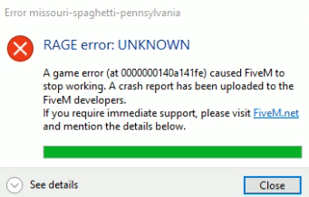 RAGE error: UNKNOWN - Server Discussion - FiveM