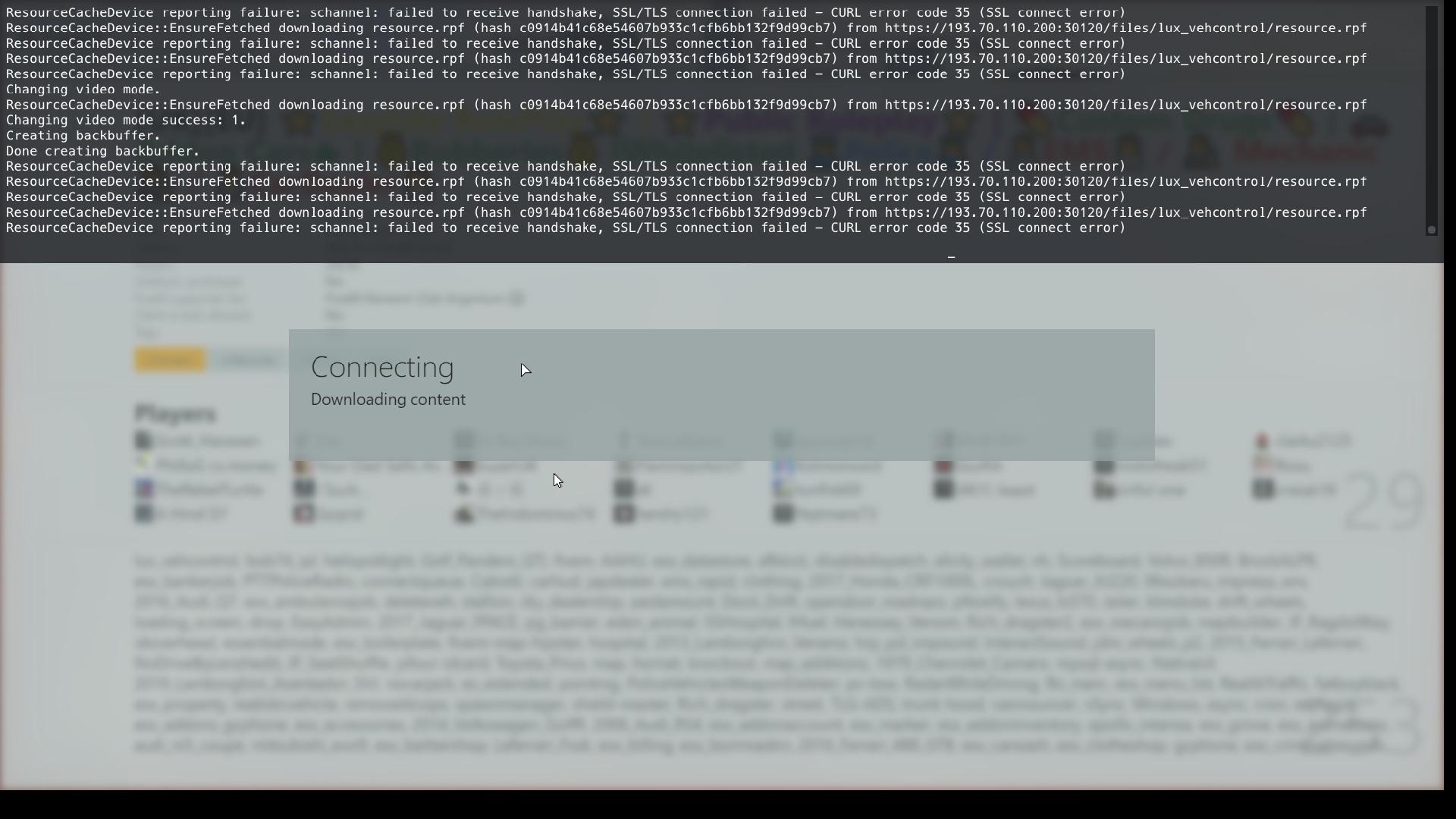 CURl error code 35 (SSL connect error) - Technical Support