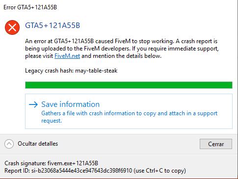 FiveM error (121A55B) - Technical Support - FiveM