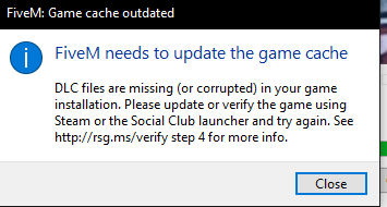 Fivem needs to update the game cache |⛔ HOW TO INSTALL