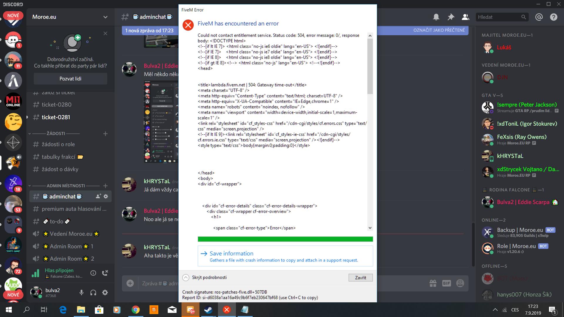 FiveM crash after joining server - Technical Support - FiveM