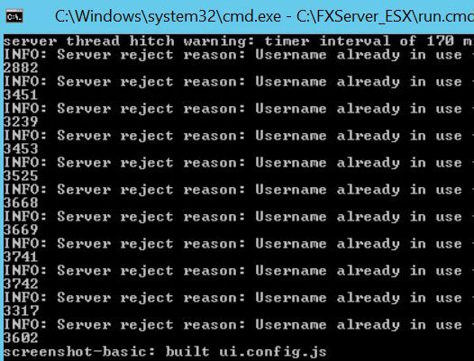 Server reject reason: Username already - Technical Support - FiveM