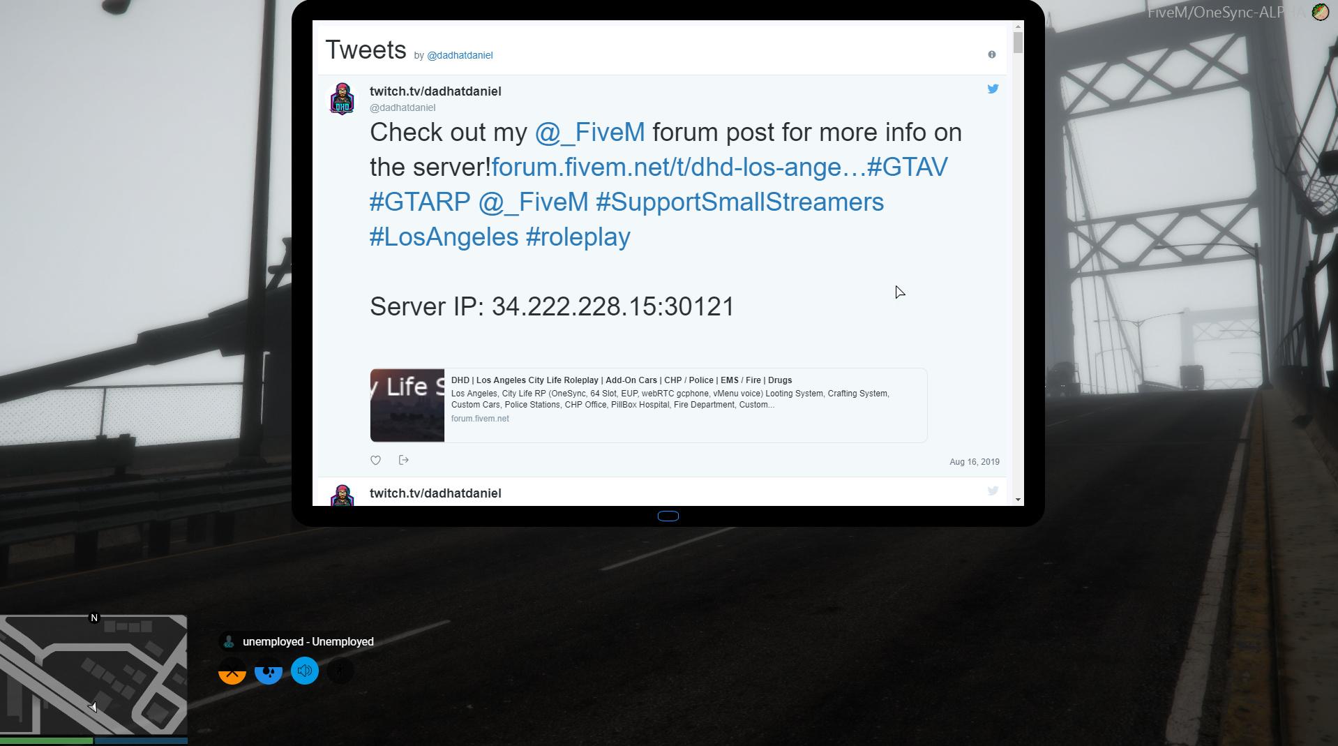 Los Angeles, City Life RP (OneSync, 64 Slot, EUP, webRTC